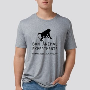 Ban Animal Experiments Mens Tri-blend T-Shirt