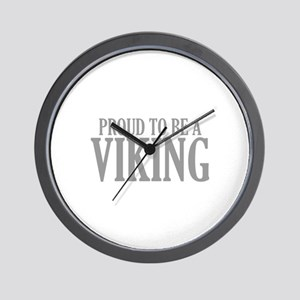 Proud To Be A Viking Wall Clock