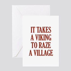 It Takes A Viking Greeting Card
