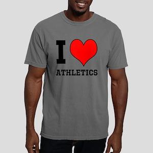 I Love ATHLETICS Mens Comfort Colors Shirt