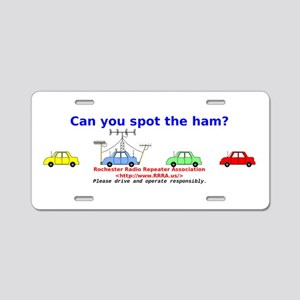 Can you spot the ham? Aluminum License Plate