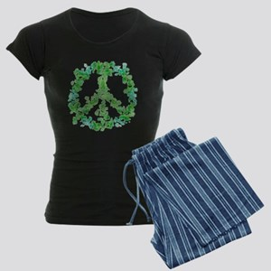 Snowflake Flower Peace Women's Dark Pajamas