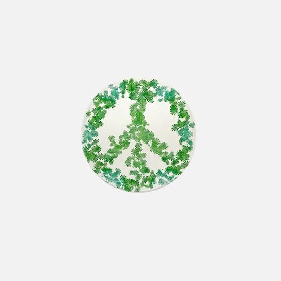 Snowflake Flower Peace Mini Button