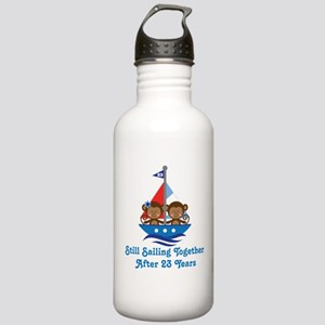 23rd Anniversary Sailing Stainless Water Bottle 1.