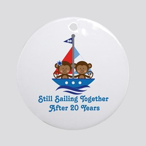 20th Anniversary Sailing Ornament (Round)