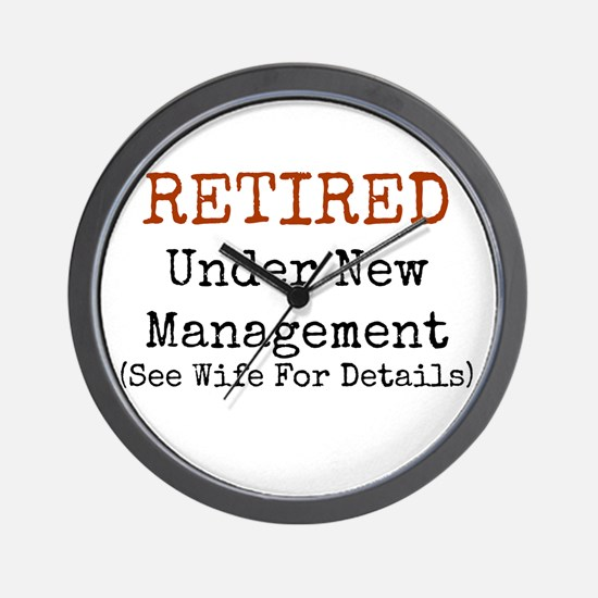 Retired See Wife for Details Wall Clock