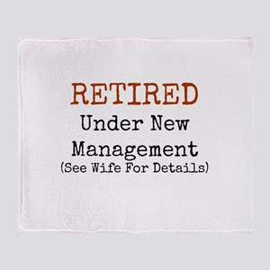 Retired See Wife for Details Throw Blanket