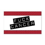 Fuck Cancer Rectangle Car Magnet