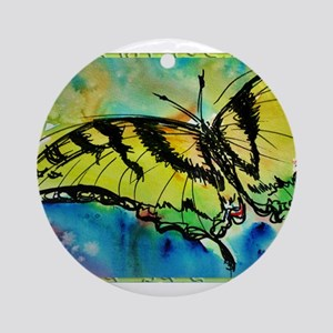 Butterfly Swallowtail butterfly art! Ornament (Rou