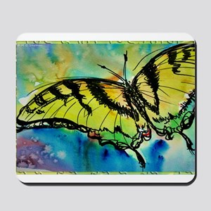 Butterfly Swallowtail butterfly art! Mousepad
