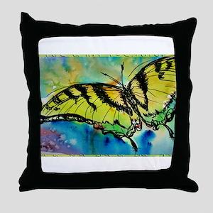 Butterfly Swallowtail butterfly art! Throw Pillow