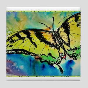 Butterfly Swallowtail butterfly art! Tile Coaster