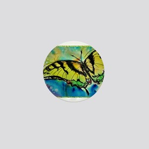 Butterfly Swallowtail butterfly art! Mini Button