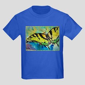 Butterfly Swallowtail butterfly art! Kids Dark T-S