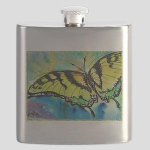 Butterfly Swallowtail butterfly art! Flask