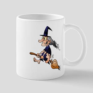 Witch on a broom Mug