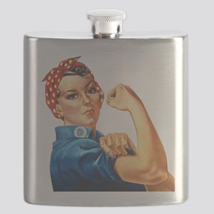 Rosie the Riveter Flask