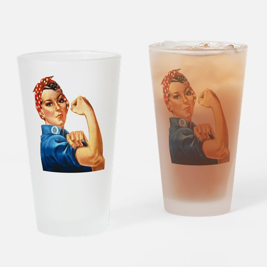 Rosie the Riveter Drinking Glass