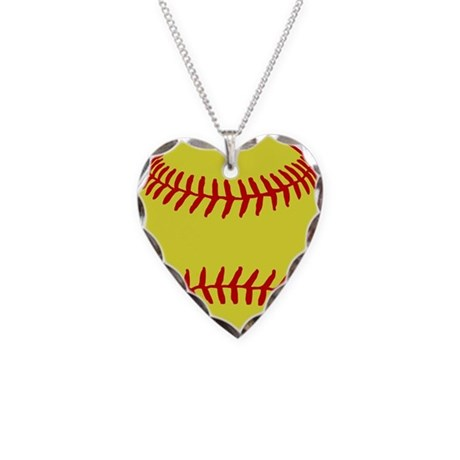 Sofball Necklace Heart Charm