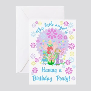 Angel theme birthday greeting cards cafepress little angel birthday invitations m4hsunfo