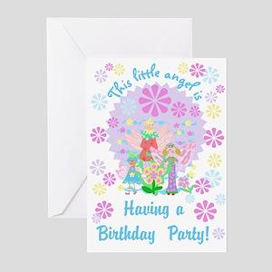 Angel theme birthday greeting cards cafepress little angel birthday invitations m4hsunfo