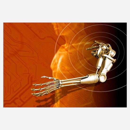 Prosthetic robotic arm, computer artwork
