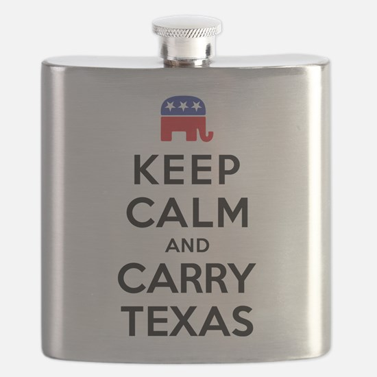Keep Calm and Carry Texas Republican Flask