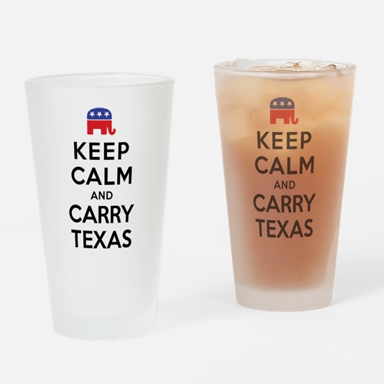 Keep Calm and Carry Texas Republican Drinking Glas