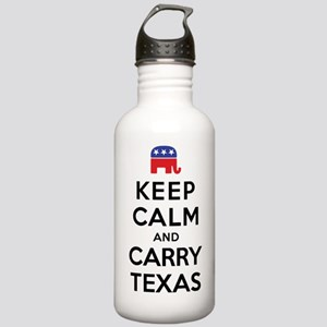 Keep Calm and Carry Texas Republican Stainless Wat