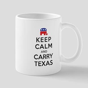 Keep Calm and Carry Texas Republican Mug