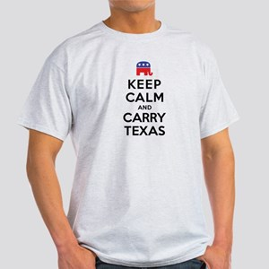 Keep Calm and Carry Texas Republican Light T-Shirt