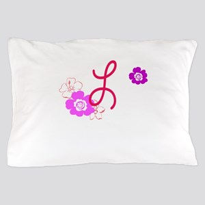 L Flowers Pillow Case