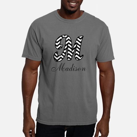 Monogram M Your Name Cus Mens Comfort Colors Shirt