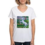 Unicorn Kingdom Women's V-Neck T-Shirt