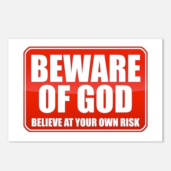 Beware Of God Postcards (Package of 8)