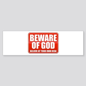 Beware Of God Sticker (Bumper)