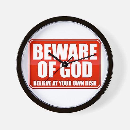Beware Of God Wall Clock