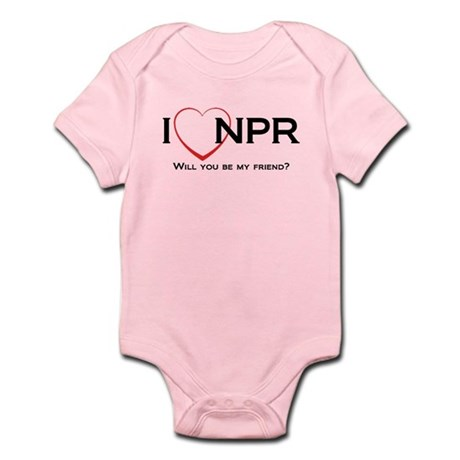 I Love NPR Infant Bodysuit