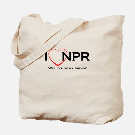 I Love NPR Tote Bag