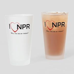 I Love NPR Drinking Glass