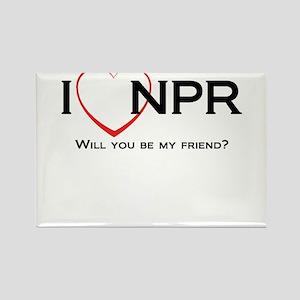 I Love NPR Rectangle Magnet