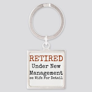 Retired See Wife for Details Keychains