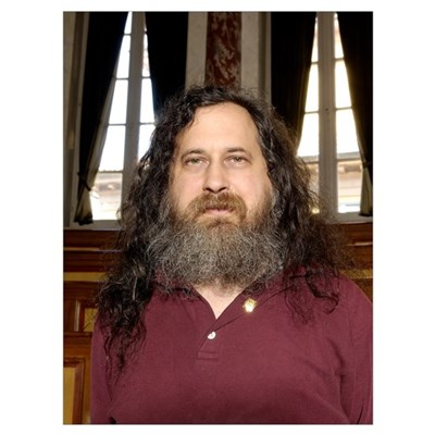 Richard Stallman, software developer Framed Print