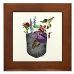 Pocket Wildflowers Framed Tile