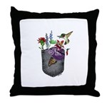 Pocket Wildflowers Throw Pillow