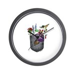 Pocket Wildflowers Wall Clock