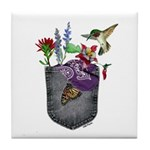 Pocket Wildflowers Tile Coaster