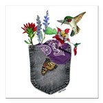 Pocket Wildflowers Square Car Magnet 3