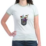 Pocket Wildflowers Jr. Ringer T-Shirt
