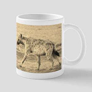 sepia spotted hyena morning kenya collection Mug